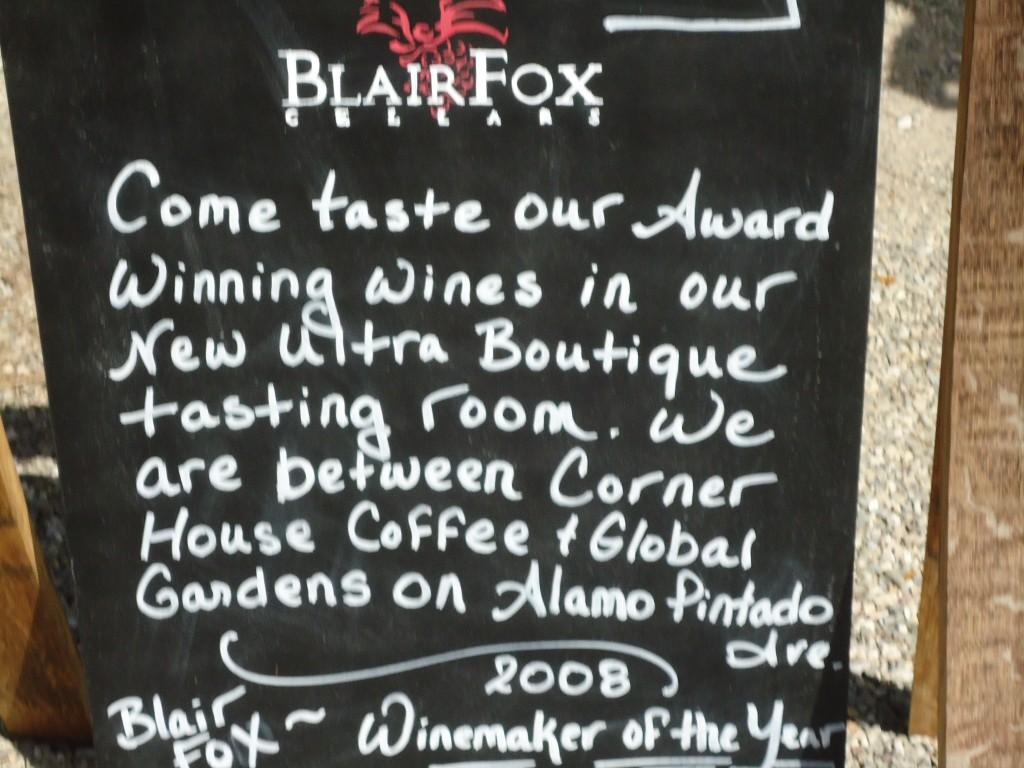Blair Fox Winery