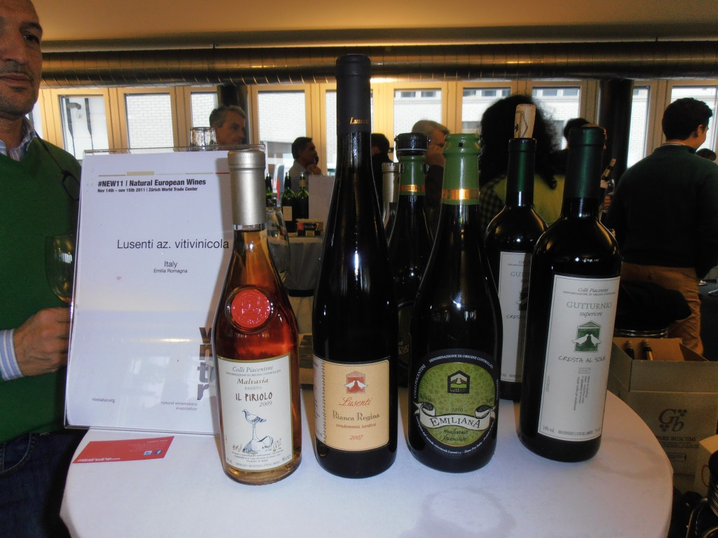 The wonderful Lusenti wines I tasted