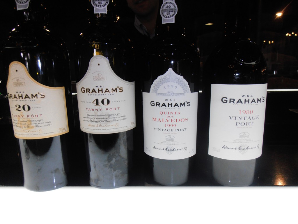 A selection of the excellent Graham's Port's we tasted