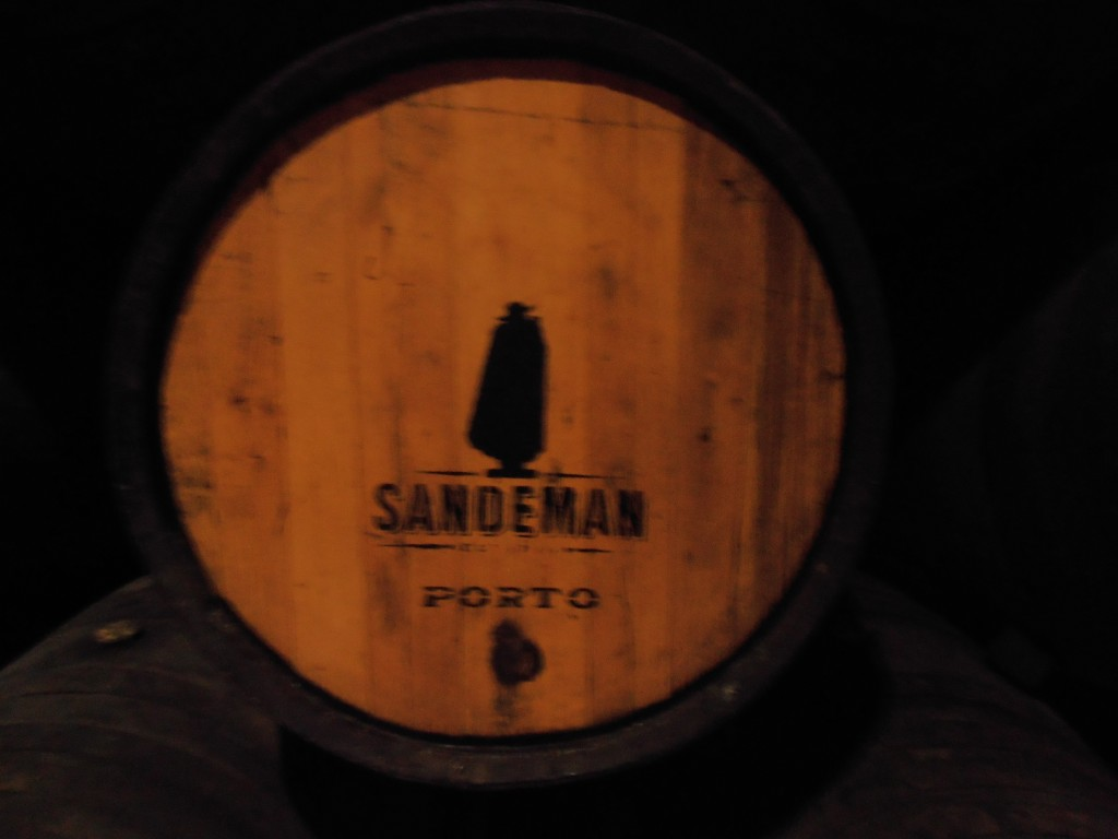 A Sandeman 640 liter pipe - fire branded with the iconic Sandeman Don