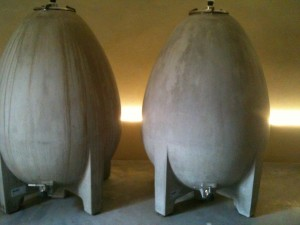 Larmandier-Bernier Egg shaped cement tanks used for the Rosé de Saignée