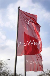 Prowein Flags outside the Dusseldorf Messe ©Prowein
