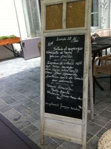 Lunch menu at Les Avisés