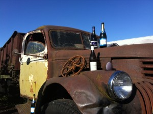 Old farm truck at Heidi Tunnel Catering