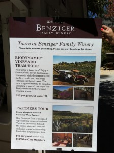 Benzinger Biodynamic Vineyard Tour