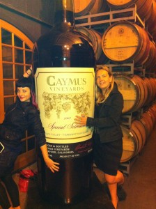 Onne  & I are all wrapped up with the Caymus Special Selection Cabernet Sauvignon :-)