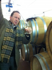 Charles Philipponnat pouring some Clos de Goisses vin clair