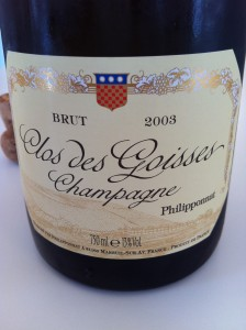 The amazing 2003 Champagne Philipponnat Clos des Goisses!