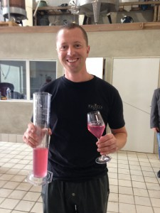 Cedric with his Rosde maceration de Meunier